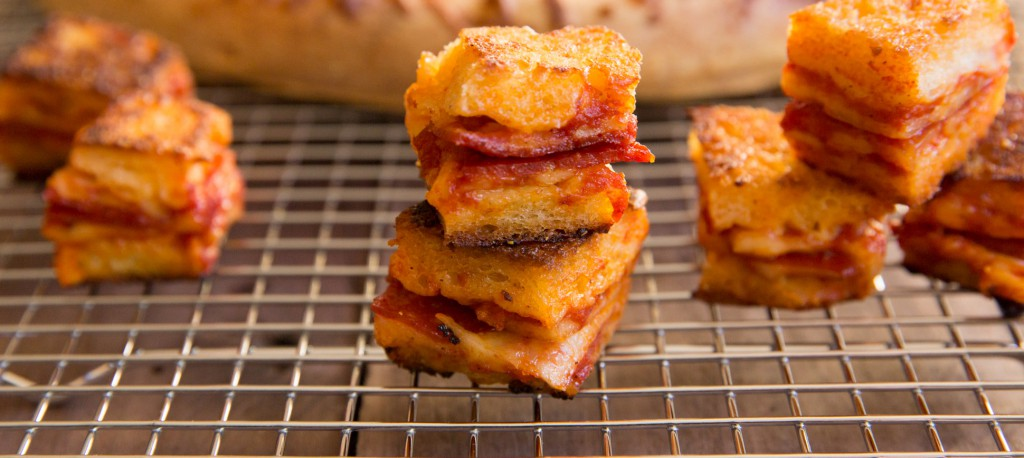 leftover pizza croutons recipe