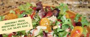 Raspberry Vinaigrette salad