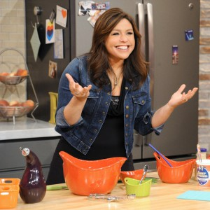 Chef Rachel Ray on her cooking show